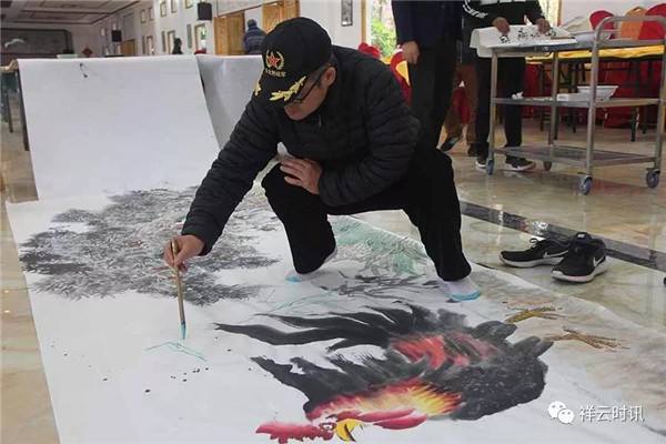 首都书画院写生创作团队到革命老区大理祥云开展创作采风文化下乡活动