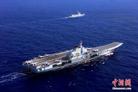 中国两大航母首次在大